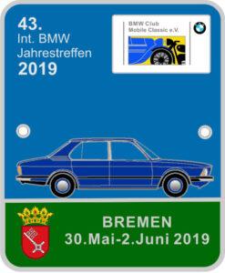 Jahresplakette des BMW Club Mobile Classic e.V.