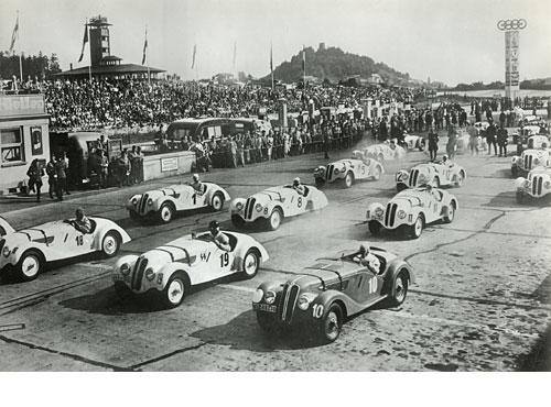 Großer Preis von Deutschland, Nürburgring 1938, Nr. 10 Paul Greifzu, der spätere Sieger mit einem Schnitt von 112,3 km/h