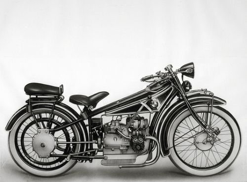 Das erste BMW Kraftrad mit 494 ccm, 8,5 PS