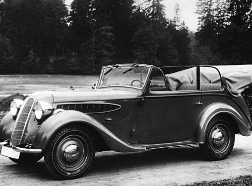 4-sitziges Cabriolet, 2 Ltr., Sechs-Zylinder, 45 PS, Sonderausführung mit großem Kofferraum. 1936-37.